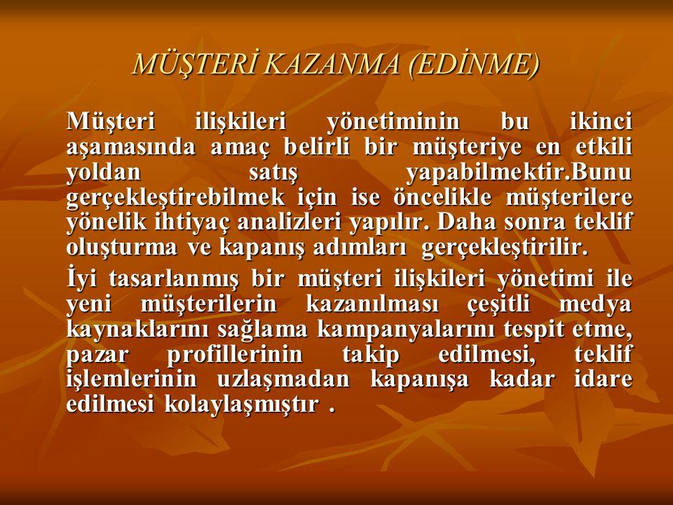 MÜŞTERİ KAZANMA (EDİNME)