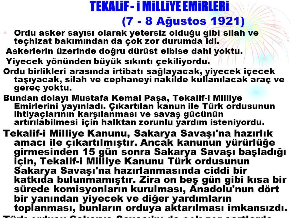 TEKALiF - i MiLLiYE EMiRLERi
