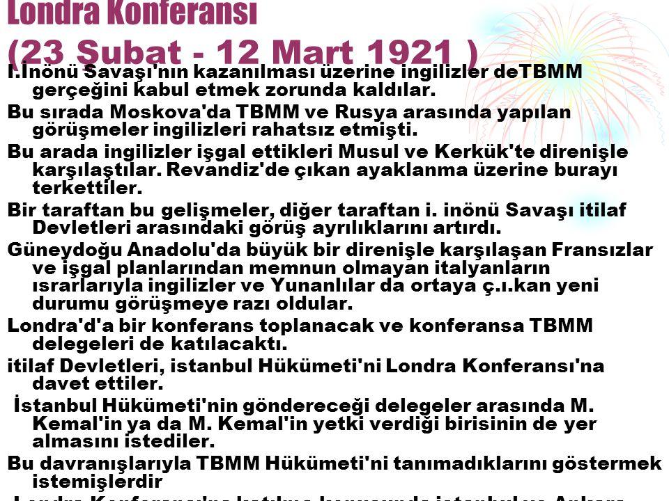 Londra Konferansı (23 Şubat - 12 Mart 1921 )