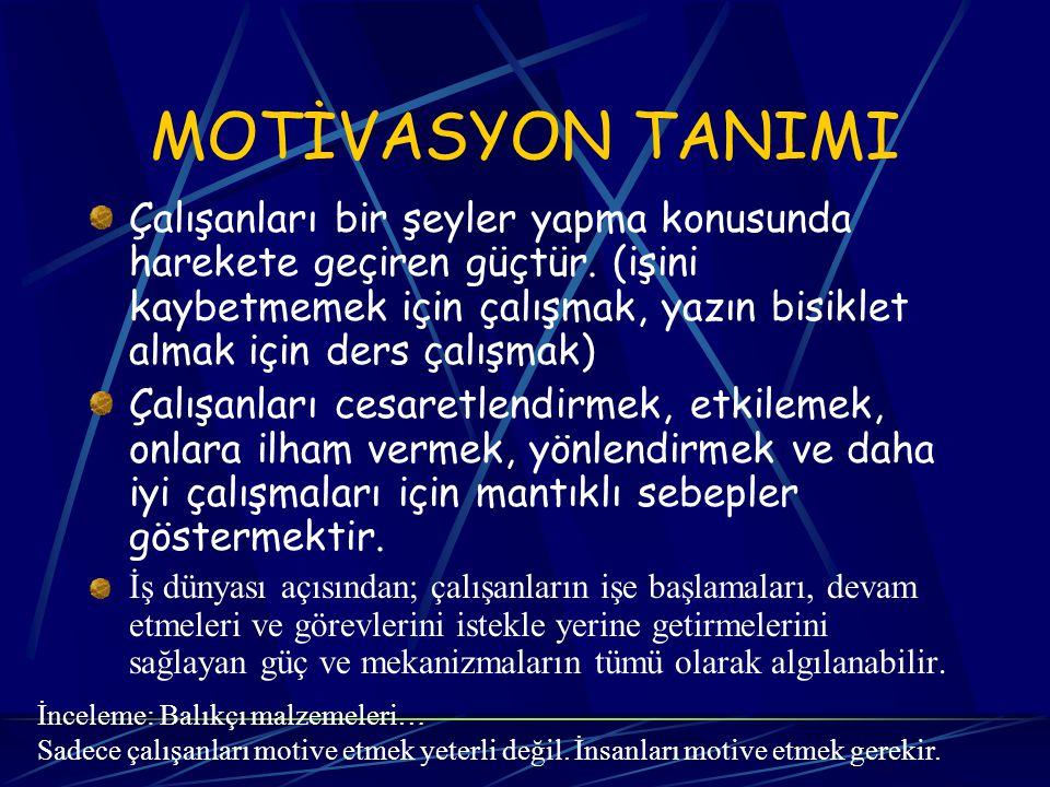 MOTİVASYON TANIMI