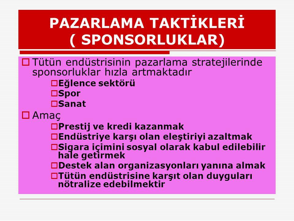 PAZARLAMA TAKTİKLERİ ( SPONSORLUKLAR)