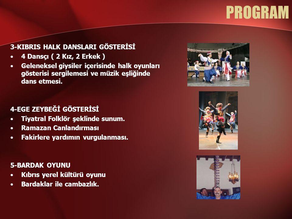 PROGRAM 3-KIBRIS HALK DANSLARI GÖSTERİSİ 4 Dansçı ( 2 Kız, 2 Erkek )
