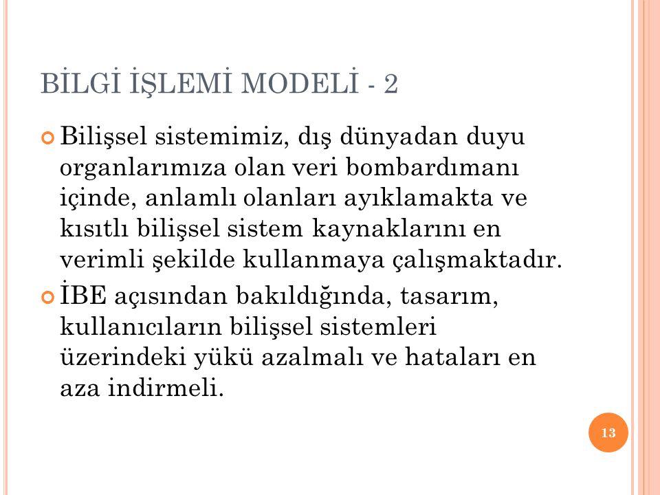 BİLGİ İŞLEMİ MODELİ - 2