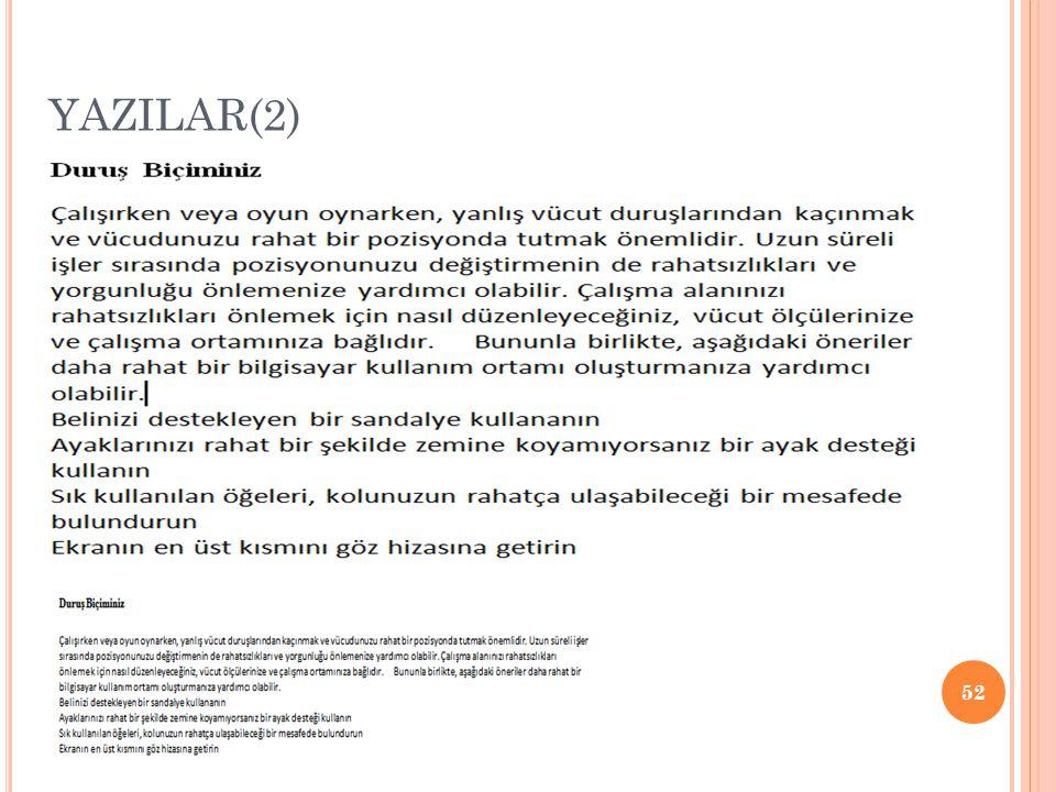 YAZILAR(2)