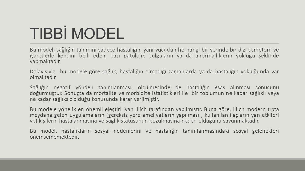 TIBBİ MODEL