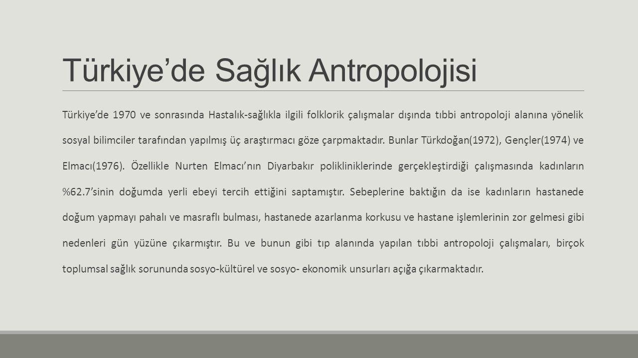 Türkiye'de Sağlık Antropolojisi