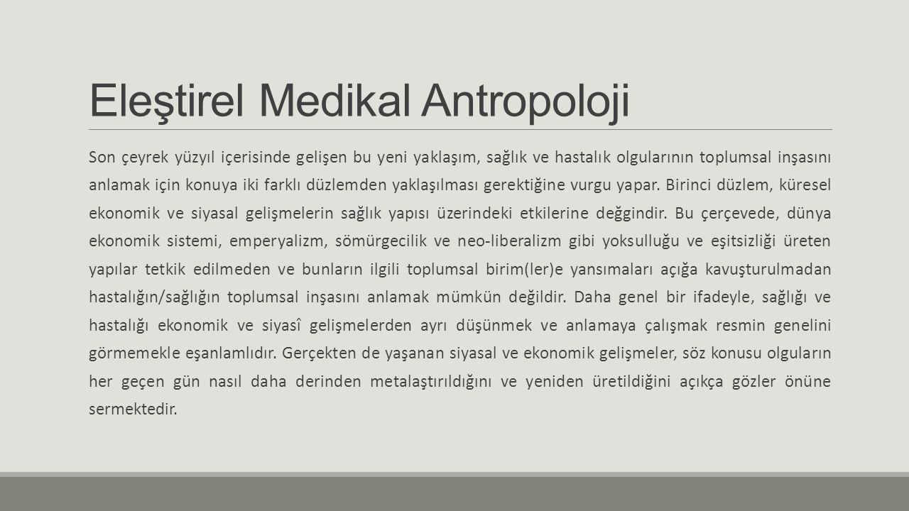 Eleştirel Medikal Antropoloji