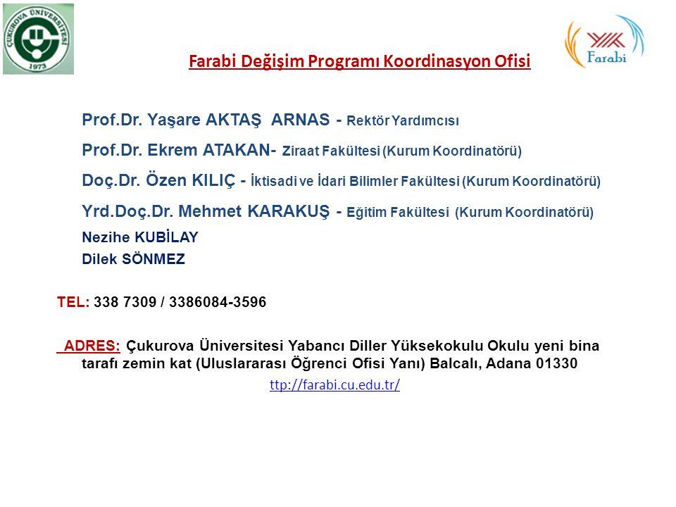 Farabi Değişim Programı Koordinasyon Ofisi Prof. Dr