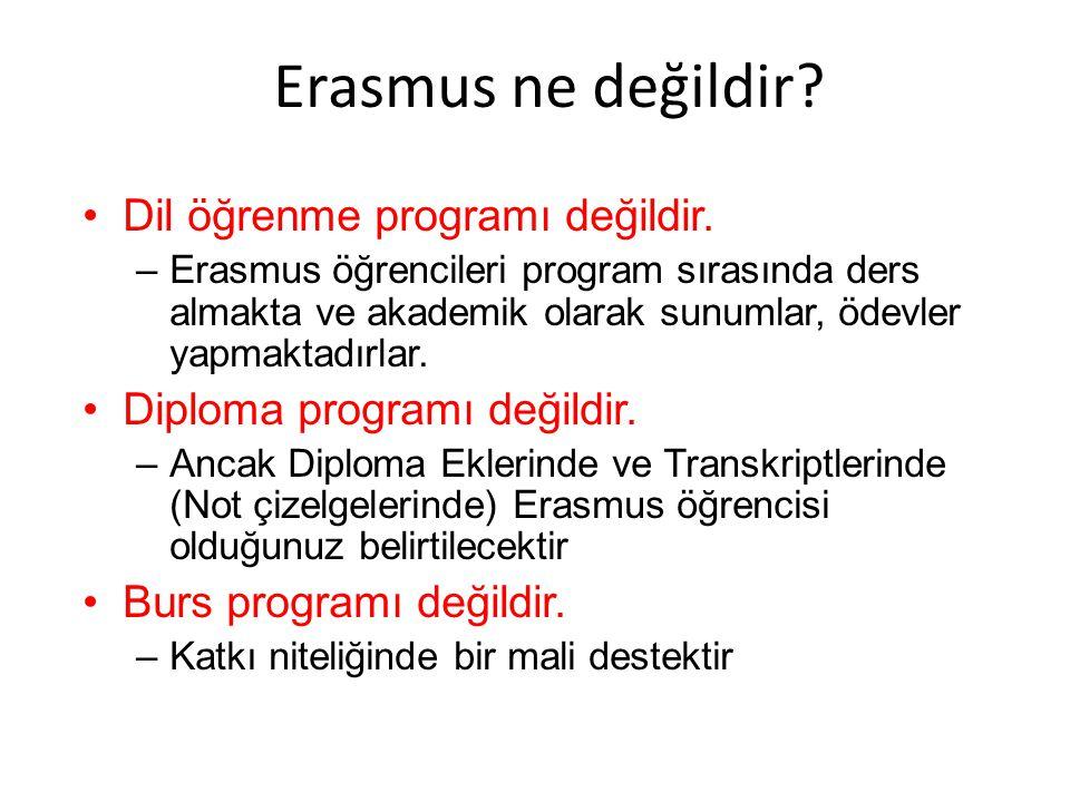 Erasmus ne değildir Dil öğrenme programı değildir.