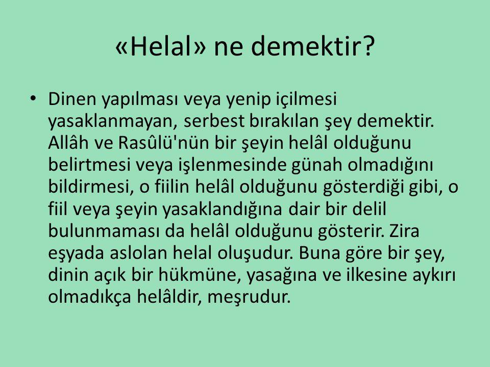 «Helal» ne demektir