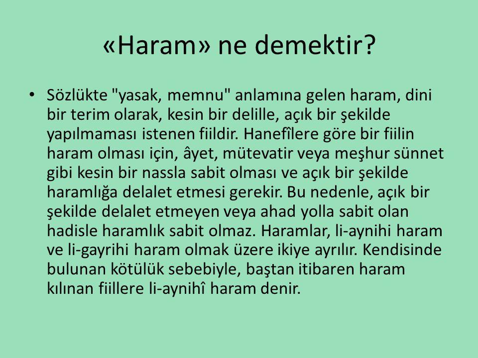 «Haram» ne demektir