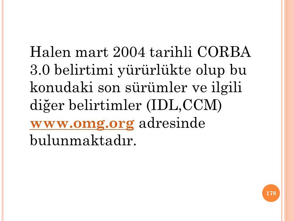 Halen mart 2004 tarihli CORBA 3