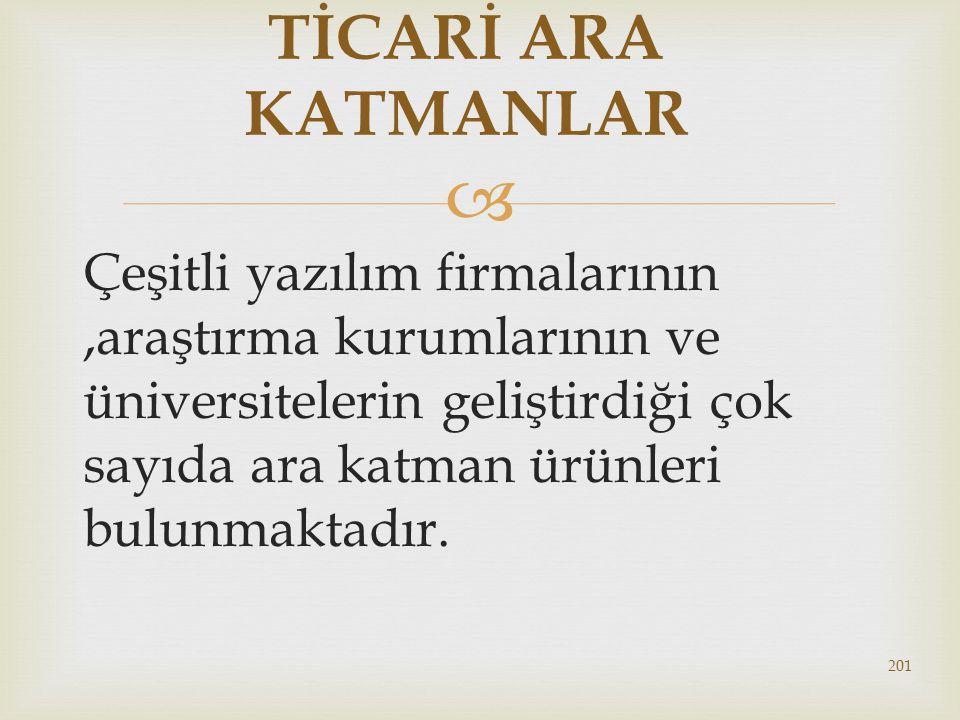 TİCARİ ARA KATMANLAR