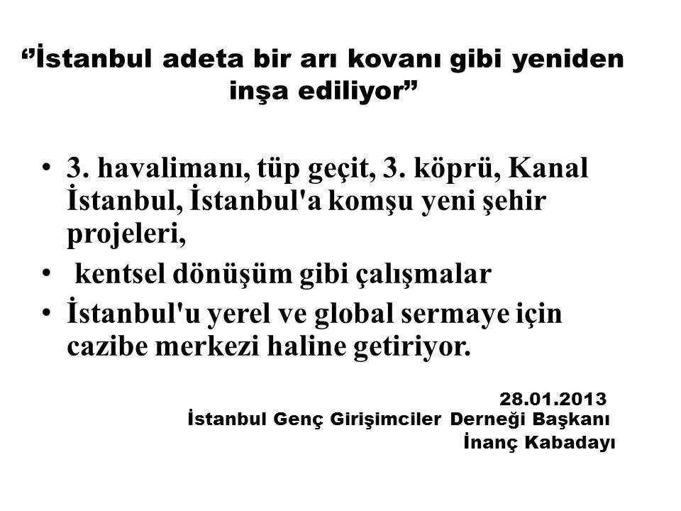 ''İstanbul adeta bir arı kovanı gibi yeniden inşa ediliyor''