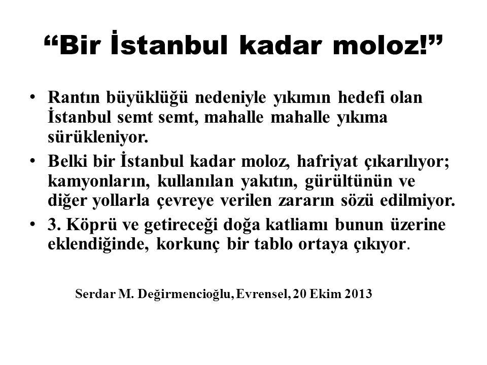 ''Bir İstanbul kadar moloz!''