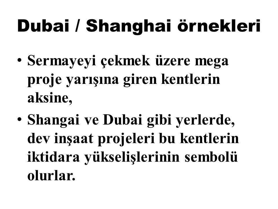 Dubai / Shanghai örnekleri