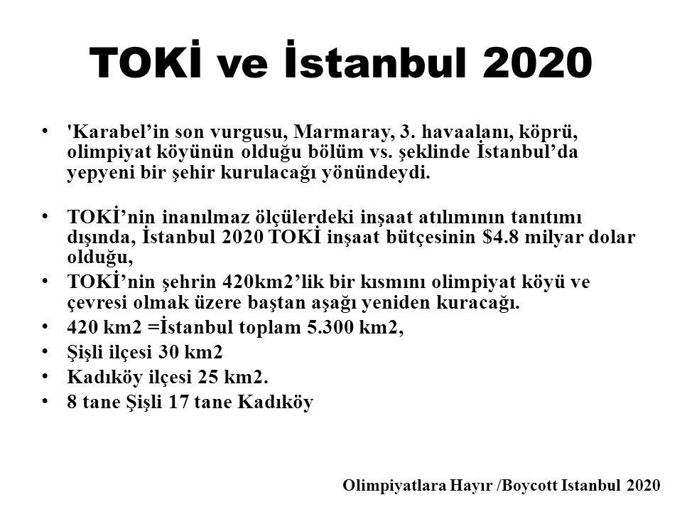 TOKİ ve İstanbul 2020