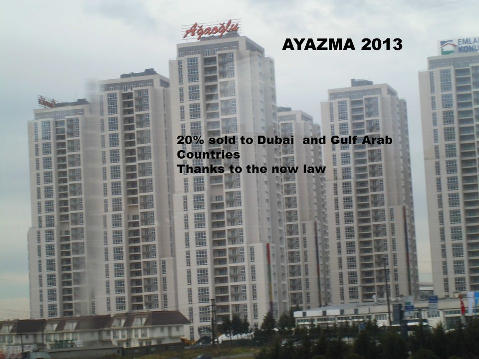 AYAZMA 2013 20% sold to Dubai and Gulf Arab Countries