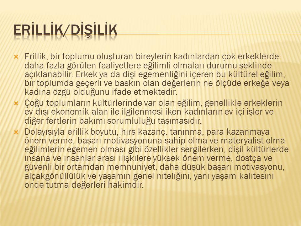ERİLLİK/DİŞİLİK
