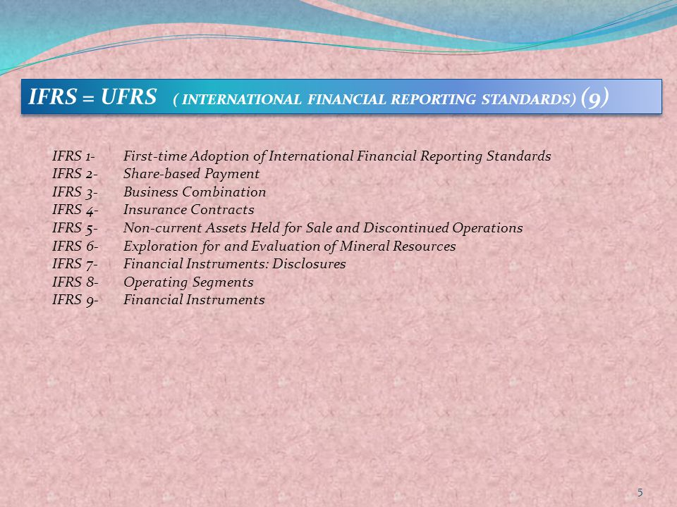IFRS = UFRS ( INTERNATIONAL FINANCIAL REPORTING STANDARDS) (9)