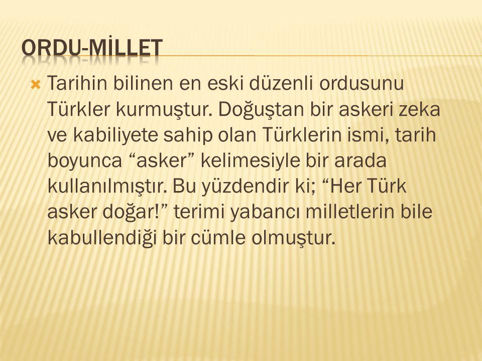 ORDU-MİLLET
