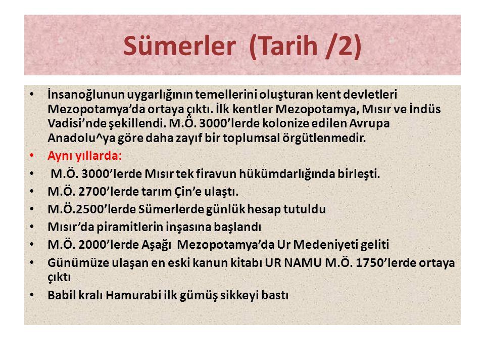 Sümerler (Tarih /2)