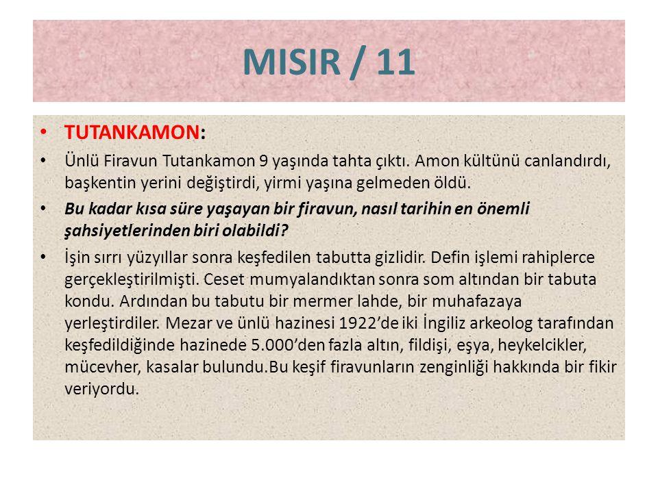 MISIR / 11 TUTANKAMON: