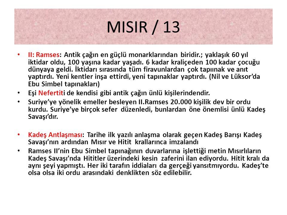 MISIR / 13