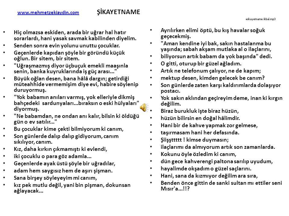 www.mehmetzekiaydin.com ŞİKAYETNAME