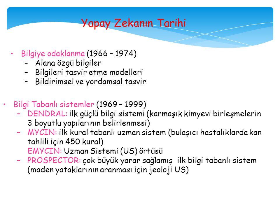Yapay Zekanın Tarihi Bilgiye odaklanma (1966 – 1974)