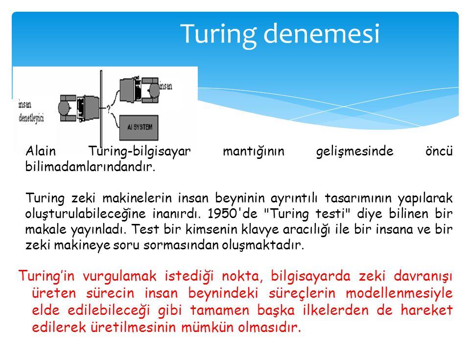 Turing denemesi Alain Turing-bilgisayar mantığının gelişmesinde öncü bilimadamlarındandır.
