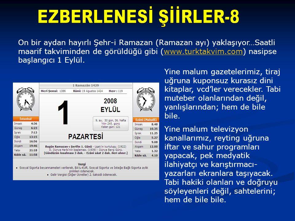 EZBERLENESİ ŞİİRLER-8