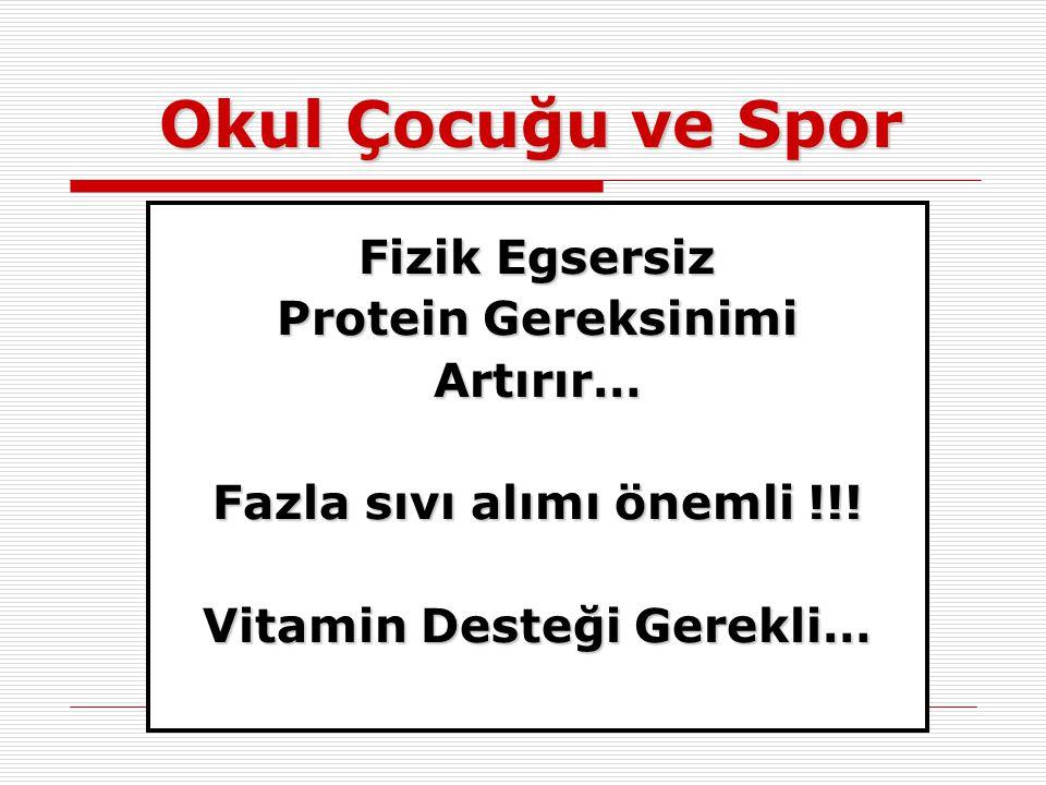 Fazla sıvı alımı önemli !!! Vitamin Desteği Gerekli…