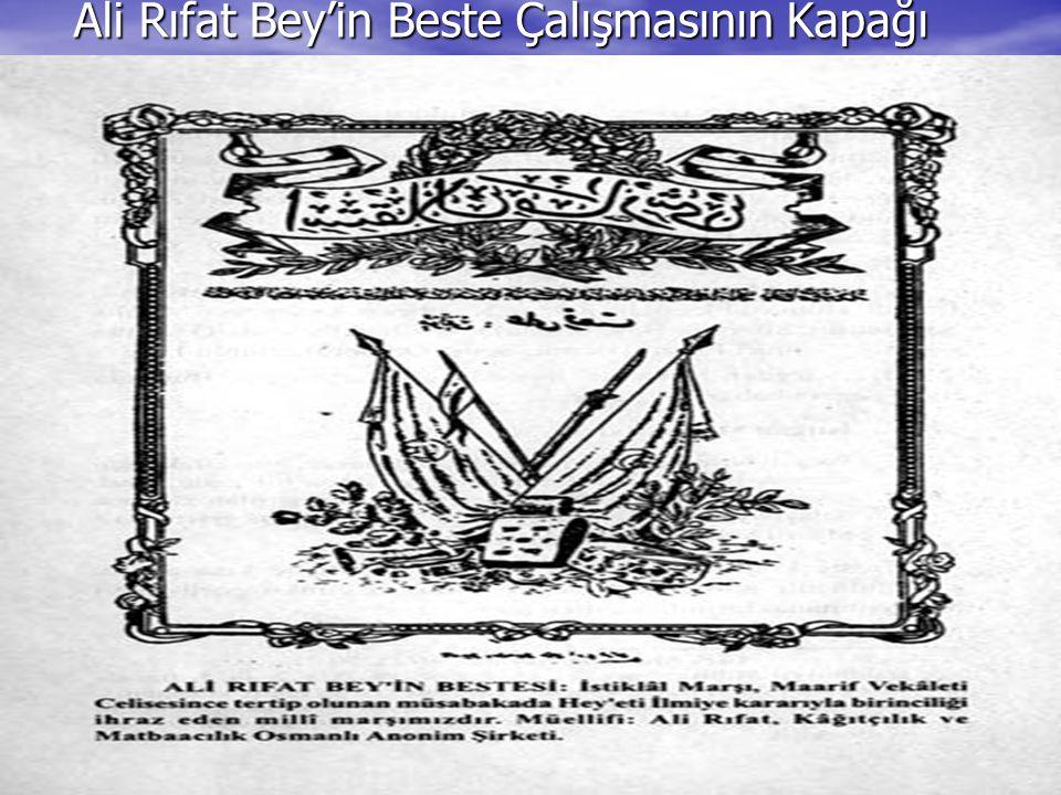 Ali Rıfat Bey'in Beste Çalışmasının Kapağı
