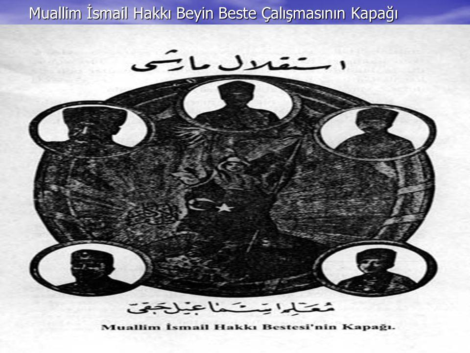 Muallim İsmail Hakkı Beyin Beste Çalışmasının Kapağı