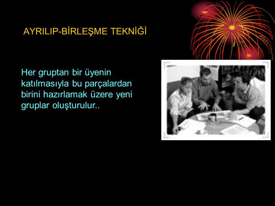 AYRILIP-BİRLEŞME TEKNİĞİ