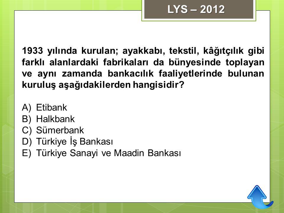 LYS – 2012
