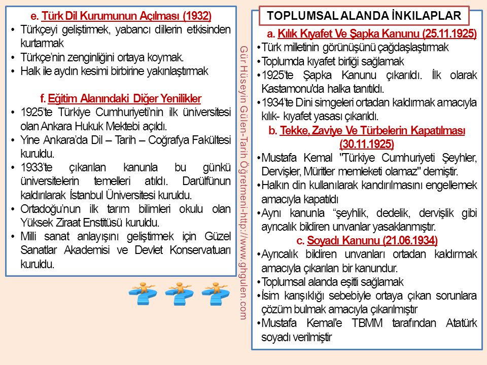 e. Türk Dil Kurumunun Açılması (1932)