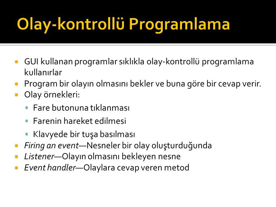 Olay-kontrollü Programlama