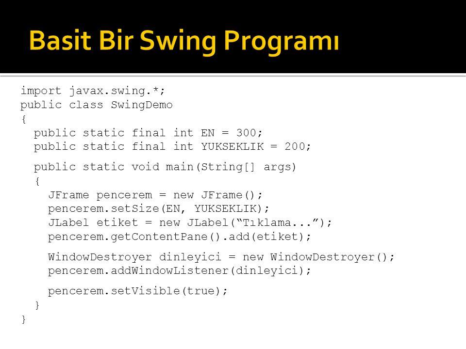 Basit Bir Swing Programı