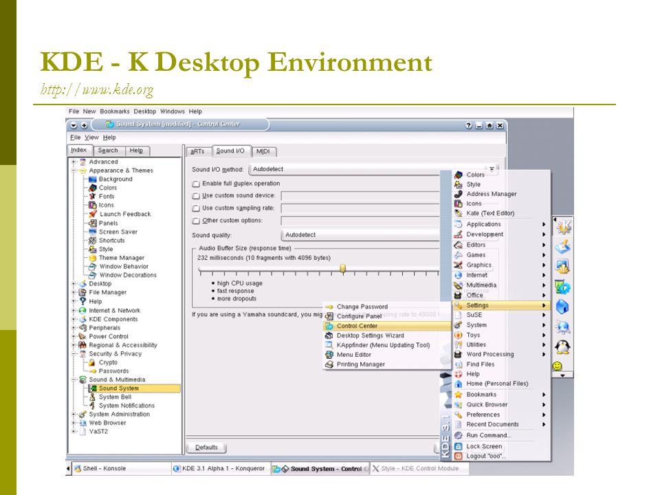 KDE - K Desktop Environment http://www.kde.org
