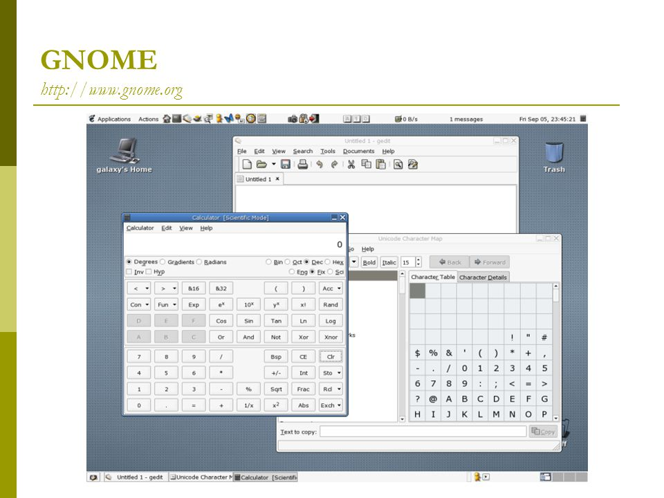 GNOME http://www.gnome.org