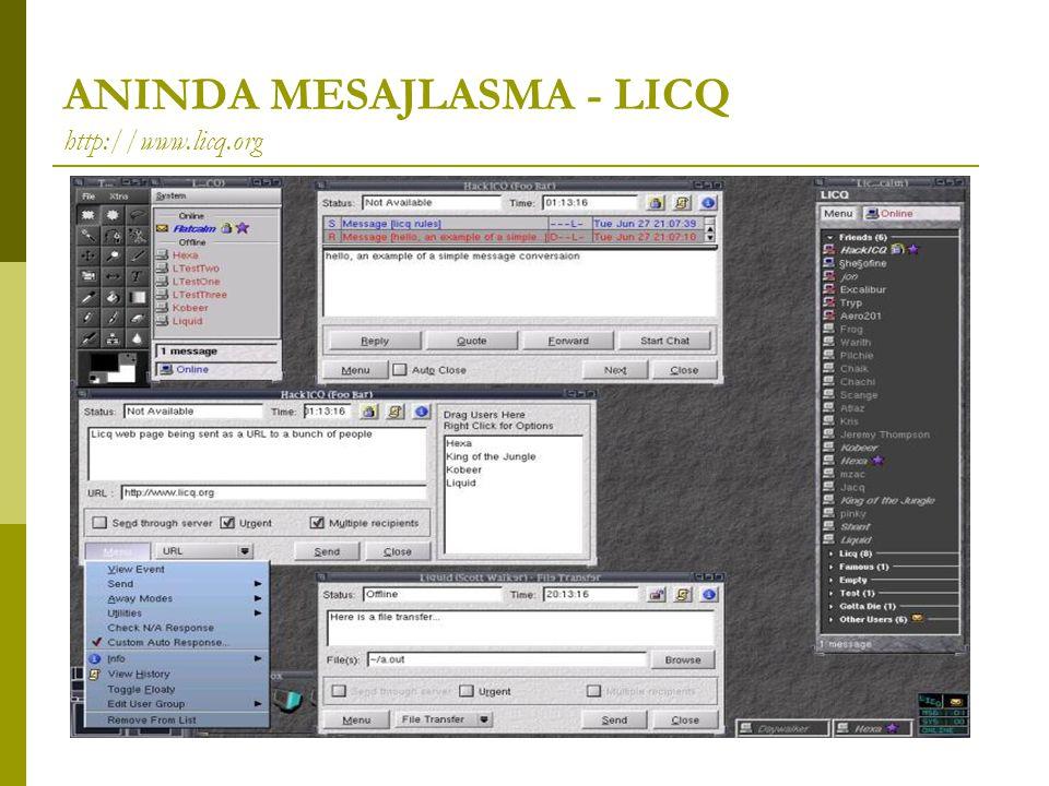 ANINDA MESAJLASMA - LICQ http://www.licq.org