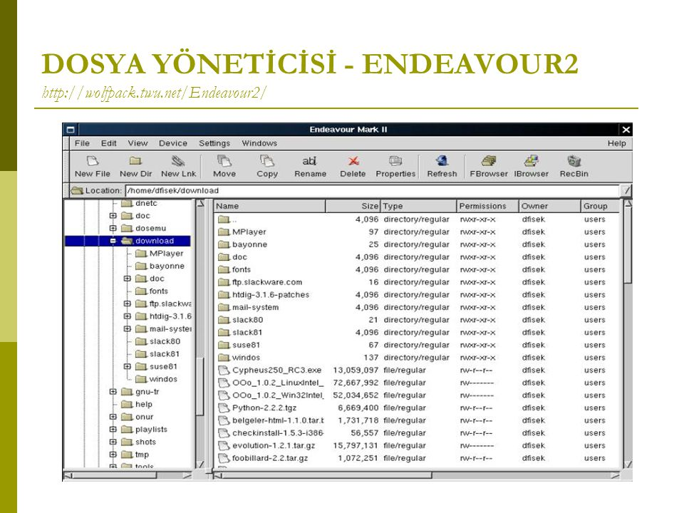 DOSYA YÖNETİCİSİ - ENDEAVOUR2 http://wolfpack.twu.net/Endeavour2/