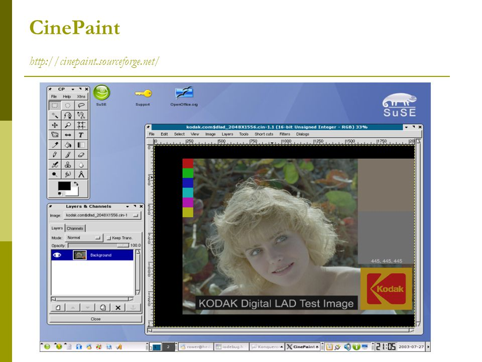 CinePaint http://cinepaint.sourceforge.net/