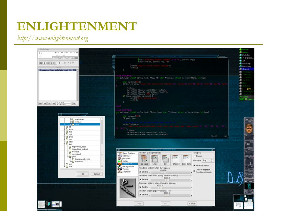 ENLIGHTENMENT http://www.enlightenment.org