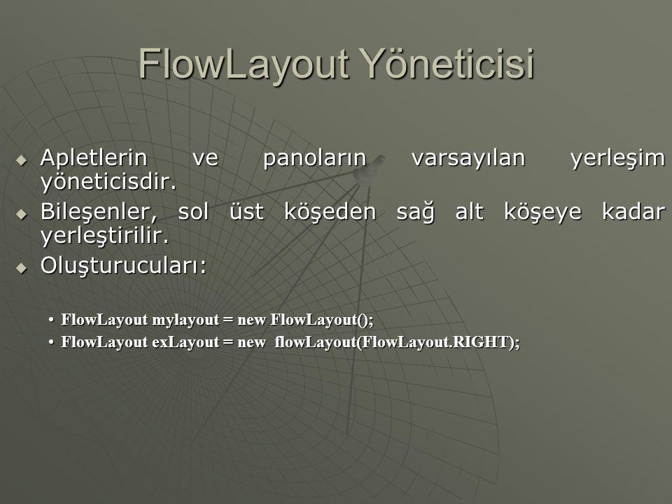 FlowLayout Yöneticisi