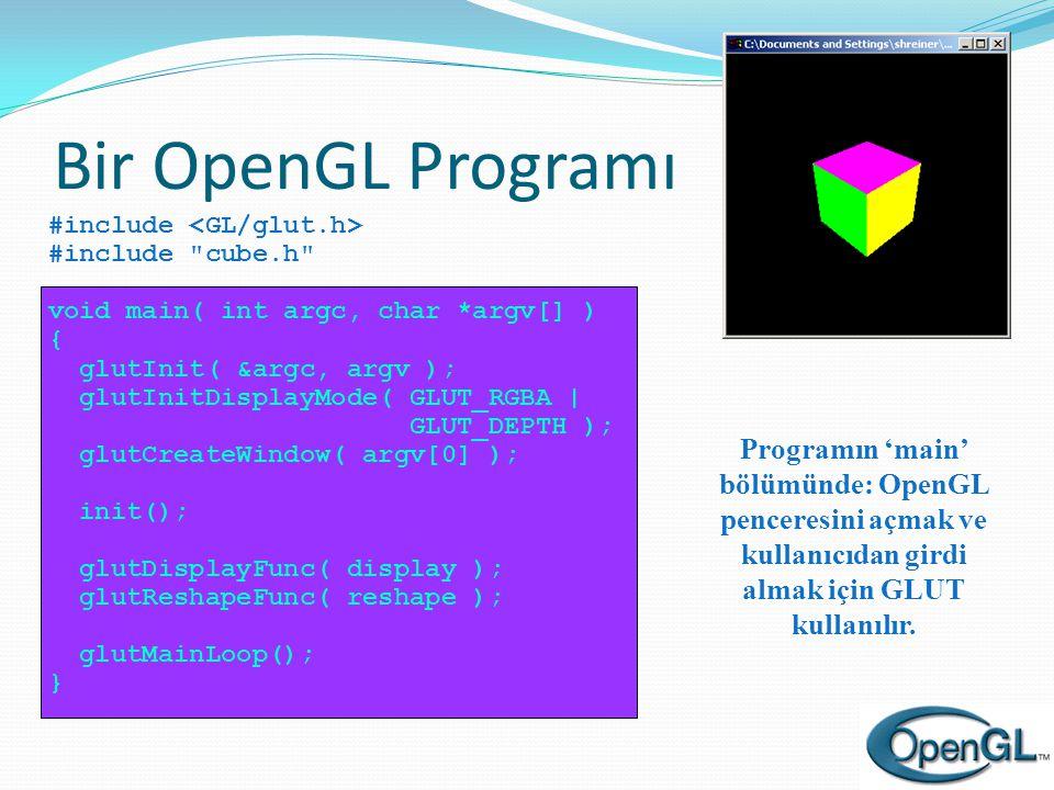 Bir OpenGL Programı
