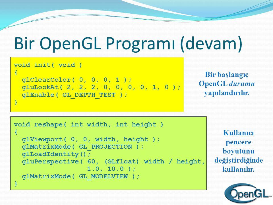 Bir OpenGL Programı (devam)