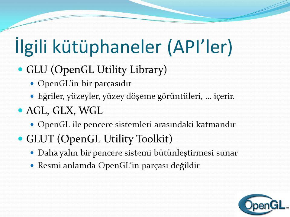 İlgili kütüphaneler (API'ler)